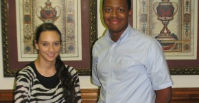 SCFS Interns - Megan Haywood and Daniel Hudson