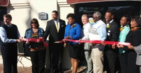 Board members and Executive staff cut ribbon on new main office location in Lumberton, NC.